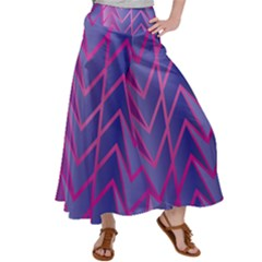Geometric Background Abstract Satin Palazzo Pants by Alisyart