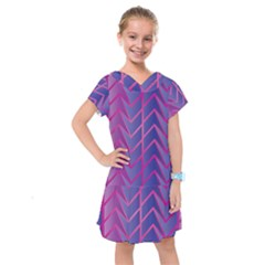 Geometric Background Abstract Kids  Drop Waist Dress