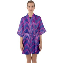 Geometric Background Abstract Quarter Sleeve Kimono Robe by Alisyart