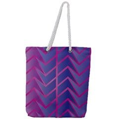 Geometric Background Abstract Full Print Rope Handle Tote (large)