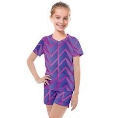 Geometric Background Abstract Kids  Mesh Tee And Shorts Set by Alisyart