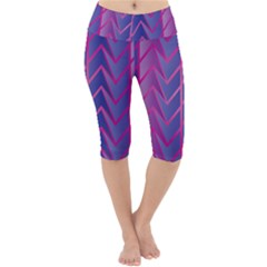 Geometric Background Abstract Lightweight Velour Cropped Yoga Leggings