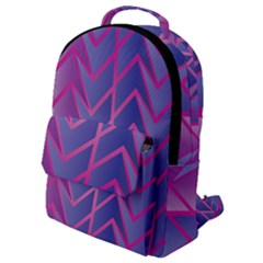 Geometric Background Abstract Flap Pocket Backpack (small)