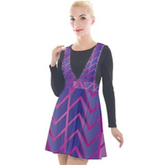 Geometric Background Abstract Plunge Pinafore Velour Dress by Alisyart