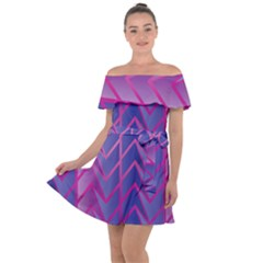 Geometric Background Abstract Off Shoulder Velour Dress by Alisyart