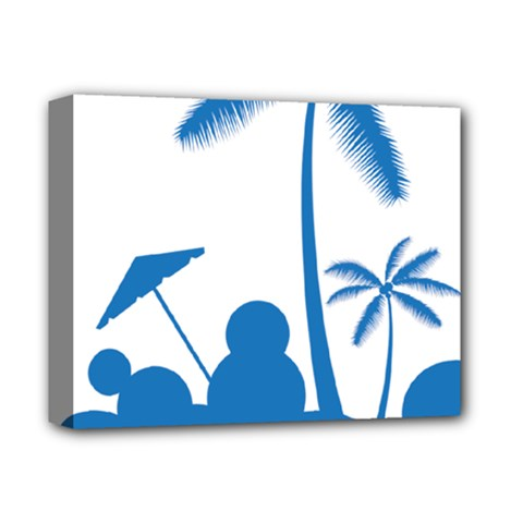 Fresh Blue Coconut Tree Deluxe Canvas 14  X 11  (stretched)