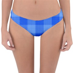 Fabric Grid Textile Deco Reversible Hipster Bikini Bottoms by Alisyart