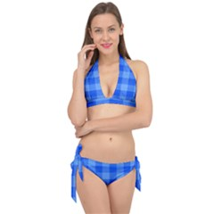 Fabric Grid Textile Deco Tie It Up Bikini Set