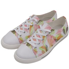 Flower Floral Women s Low Top Canvas Sneakers by Alisyart