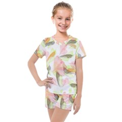 Flower Floral Kids  Mesh Tee And Shorts Set by Alisyart