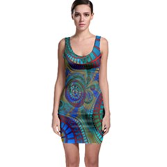 Fractal Abstract Line Wave Unique Bodycon Dress