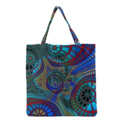 Fractal Abstract Line Wave Unique Grocery Tote Bag