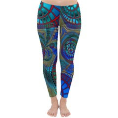 Fractal Abstract Line Wave Unique Classic Winter Leggings