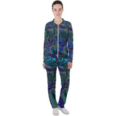 Fractal Abstract Line Wave Unique Casual Jacket And Pants Set