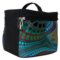 Fractal Abstract Line Wave Unique Make Up Travel Bag (small) by Alisyart
