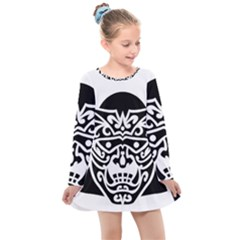 Hannya Japanese Kids  Long Sleeve Dress