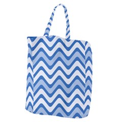Waves Wavy Lines Pattern Giant Grocery Tote