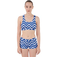 Waves Wavy Lines Pattern Work It Out Gym Set by Alisyart