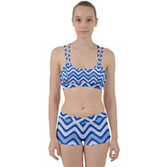 Waves Wavy Lines Pattern Perfect Fit Gym Set