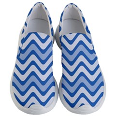 Waves Wavy Lines Pattern Women s Lightweight Slip Ons