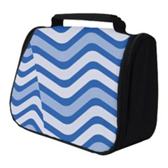 Waves Wavy Lines Pattern Full Print Travel Pouch (small)