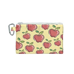Healthy Apple Fruit Canvas Cosmetic Bag (small)