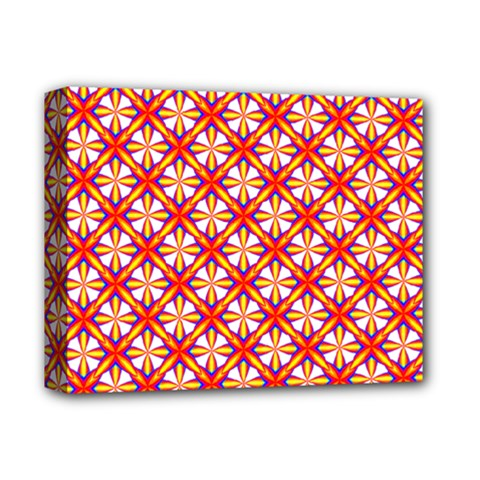 Hexagon Polygon Colorful Prismatic Deluxe Canvas 14  X 11  (stretched)