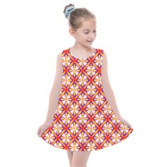 Hexagon Polygon Colorful Prismatic Kids  Summer Dress