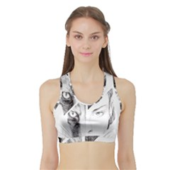 Wolf Girl Sports Bra With Border