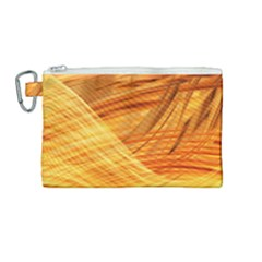 Wave Background Canvas Cosmetic Bag (medium)