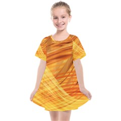 Wave Background Kids  Smock Dress by Alisyart
