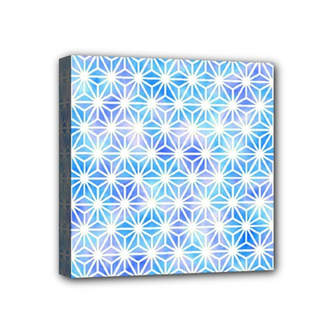Hemp Pattern Blue Mini Canvas 4  X 4  (stretched) by Alisyart