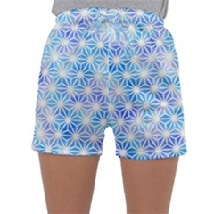 Hemp Pattern Blue Sleepwear Shorts