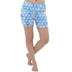 Hemp Pattern Blue Lightweight Velour Yoga Shorts