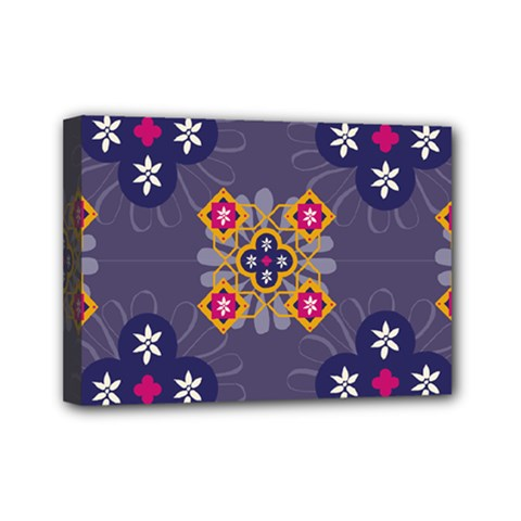 Morocco Tile Traditional Marrakech Mini Canvas 7  X 5  (stretched)