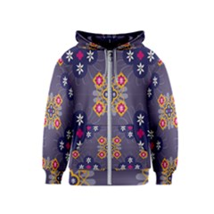 Morocco Tile Traditional Marrakech Kids  Zipper Hoodie