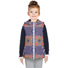 Morocco Tile Traditional Marrakech Kids  Hooded Puffer Vest