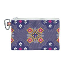 Morocco Tile Traditional Marrakech Canvas Cosmetic Bag (medium) by Alisyart