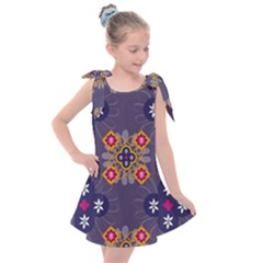 Morocco Tile Traditional Marrakech Kids  Tie Up Tunic Dress by Alisyart