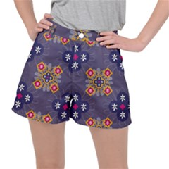 Morocco Tile Traditional Marrakech Stretch Ripstop Shorts