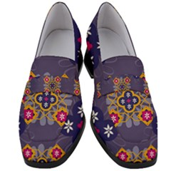 Morocco Tile Traditional Marrakech Women s Chunky Heel Loafers by Alisyart