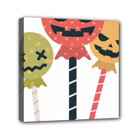 Lollipop Candy Mini Canvas 6  X 6  (stretched)