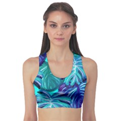 Leaves Tropical Palma Jungle Sports Bra