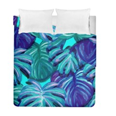 Leaves Tropical Palma Jungle Duvet Cover Double Side (full/ Double Size) by Alisyart