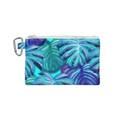 Leaves Tropical Palma Jungle Canvas Cosmetic Bag (small) by Alisyart