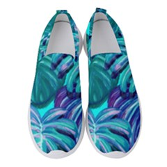 Leaves Tropical Palma Jungle Women s Slip On Sneakers by Alisyart