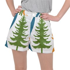 1  Forest Christmas Tree Spruce Stretch Ripstop Shorts