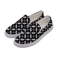 Abstract Background Arrow Women s Canvas Slip Ons by AnjaniArt