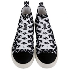 Abstract Background Arrow Men s Mid Top Canvas Sneakers