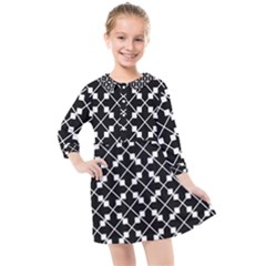 Abstract Background Arrow Kids  Quarter Sleeve Shirt Dress by AnjaniArt
